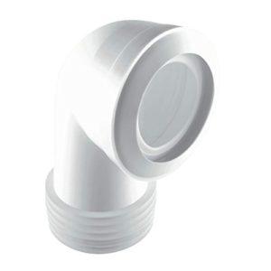McAlpine MAC-8 90 Degree Bend MACFIT WC Connector Standard Length, White