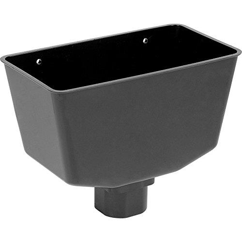 PACK OF 5 X 112mm Half Round Gutter Running Outlets In Black Aquaflow  BS4576