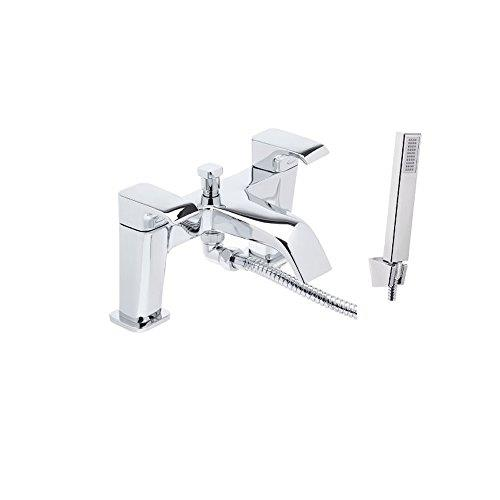 CHROME     PART NO.VC6 TRADITIONAL VICTORIAN STYLE SHOWER HEAD WHITE HANDLE