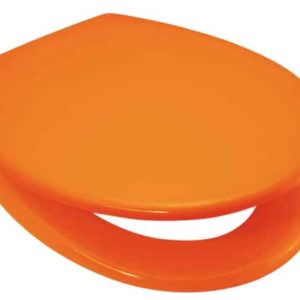 Quality Duroplastic Orange Soft Close Toilet Seat – Top or Bottom Fixings
