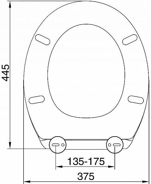 Quality Duroplastic Grey Soft Close Toilet Seat Top Or