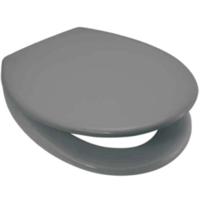 Quality Duroplastic Grey Soft Close Toilet Seat – Top or Bottom Fixings