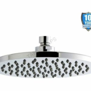 Rio Round 200mm Overhead Shower Head – Anti-Limescale + Swivel Joint RDH22