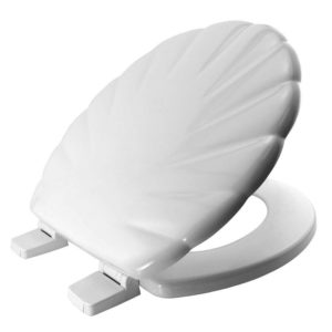 Bemis Carrara & Matta Shell  STAY TIGHT Toilet Seat – White   Moulded Wood